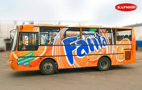 Реклама на транспорте Донецка